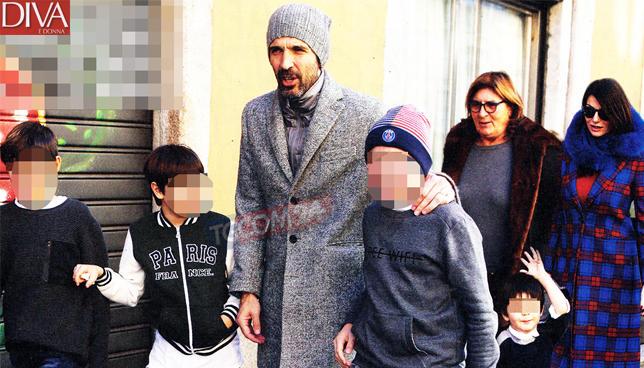 Gigi Buffon, compleanno in famiglia a Milano