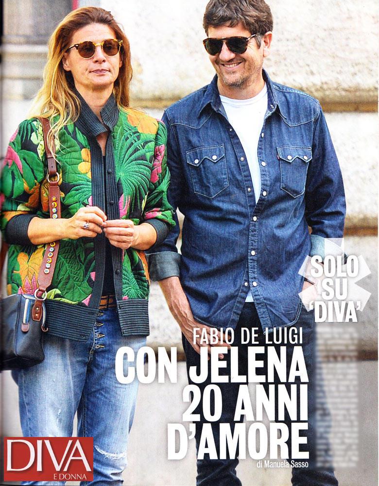 Fabio De Luigi E Jelena Coppia Al Bacio Tgcom24