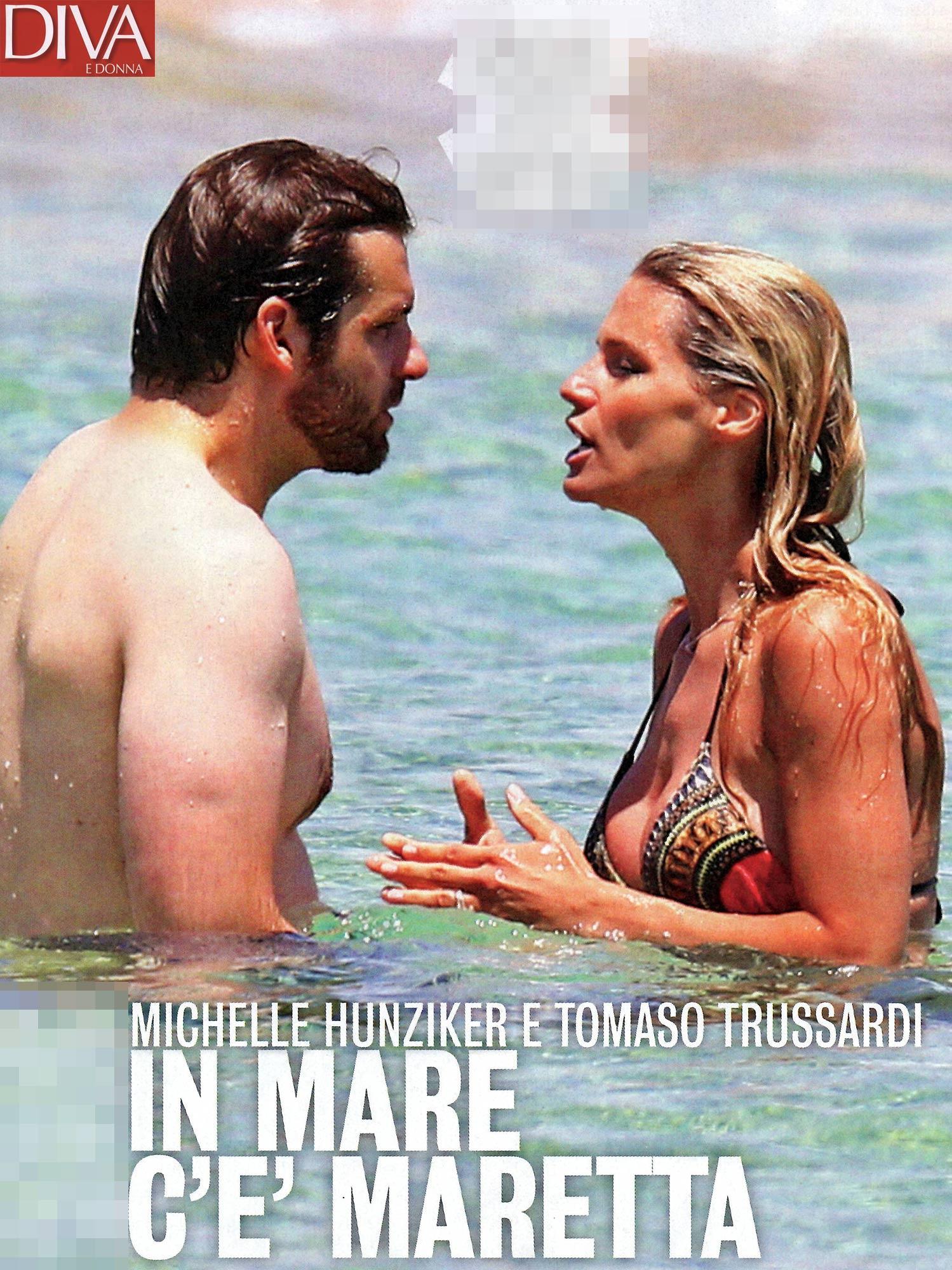 Michelle Hunziker e Tomaso Trussardi, al mare scoppia la lite
