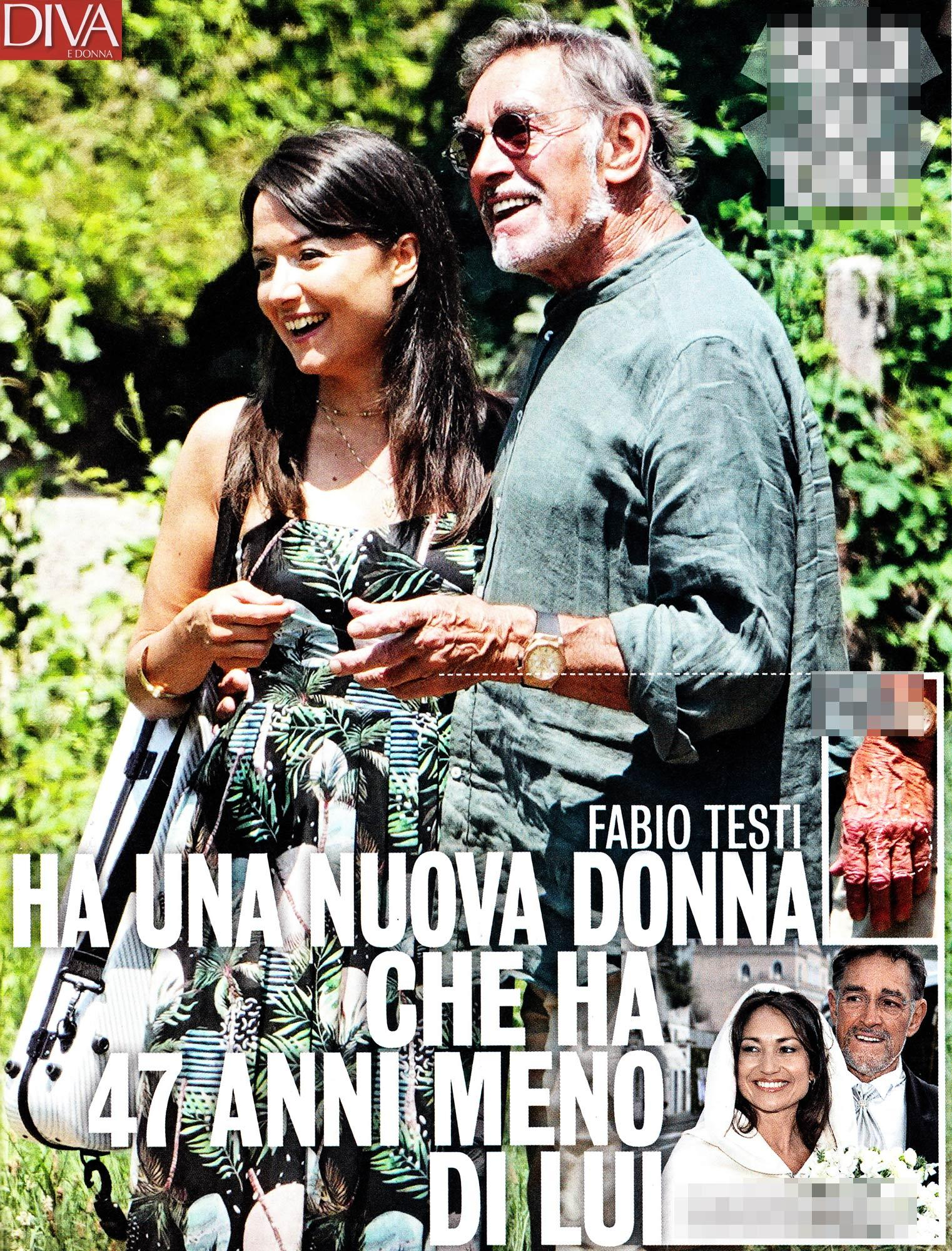 Fabio Testi innamorato, baci e coccole con Lisa