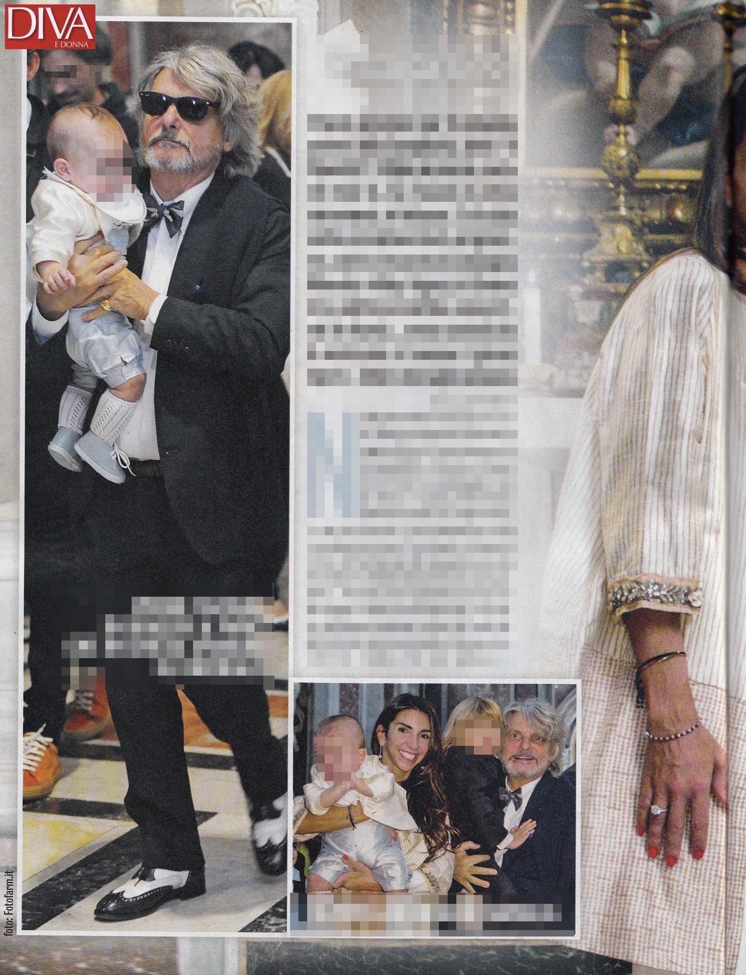 Massimo ferrero battesimo in vaticano per il figlio oscar tgcom24 - Diva e donne giornale ...