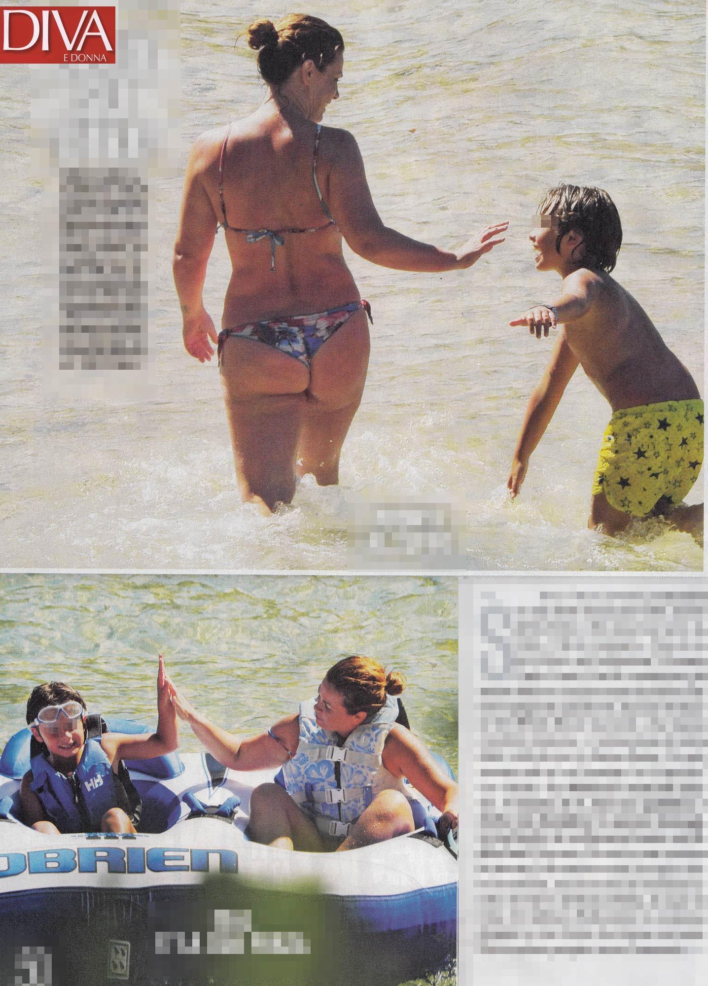 Calendario Vanessa Incontrada.Vanessa Incontrada Bikini Generoso Al Mare Tgcom24