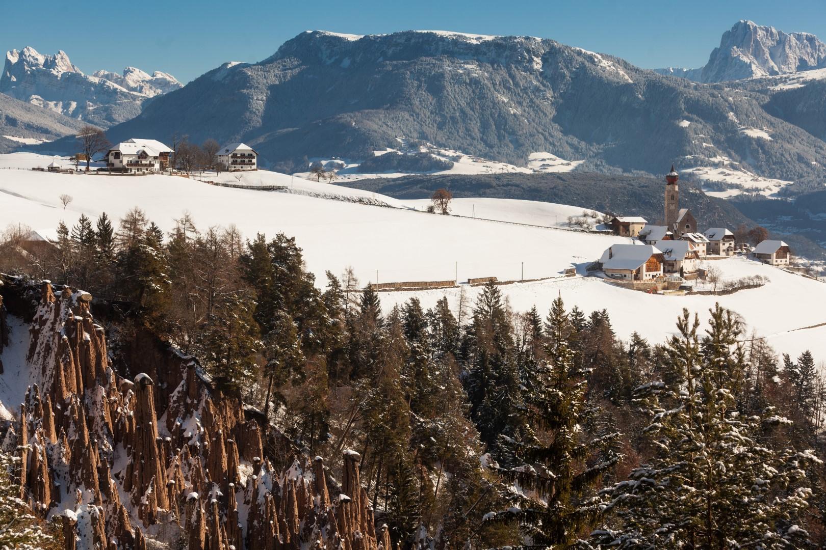 Sopra Bolzano, un oasi bianca tra natura e sci