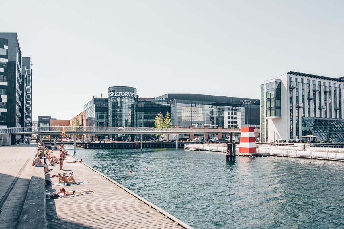 Danimarca balneare negli Harbour bath