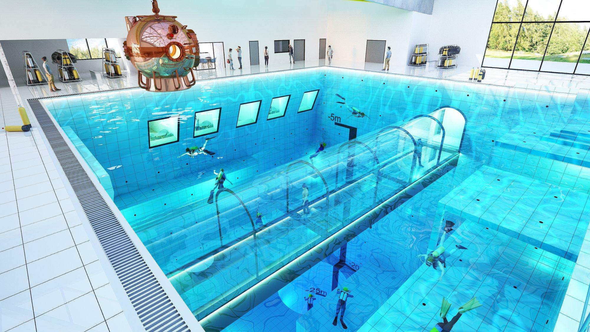 Polonia, in arrivo la piscina più profonda del mondo