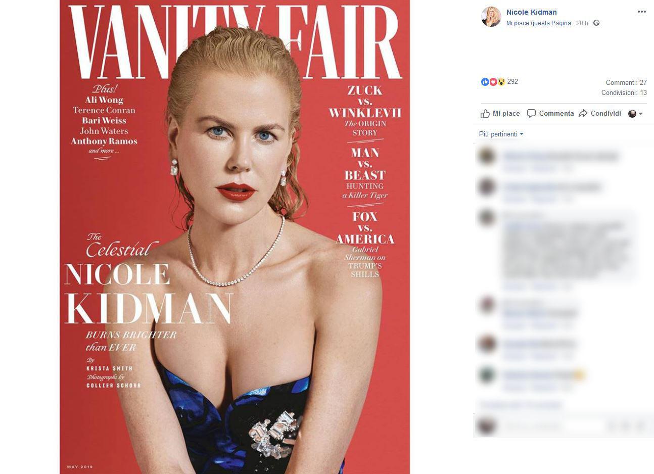 Nicole Kidman, su Vanity è sexy e bellissima