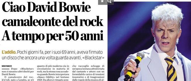 David Bowie: e Kaspar Capparoni per un giorno divenne il Duca Bianco