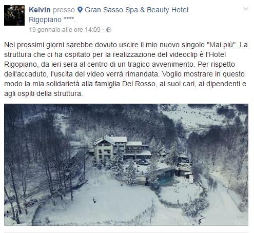 L Hotel Rigopiano prima della tragedia nel nuovo video del rapper Kelvin