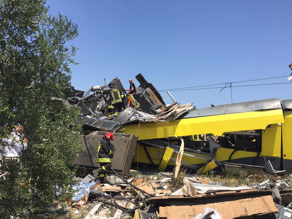 Scontro tra treni, il reportage del sindaco di Corato
