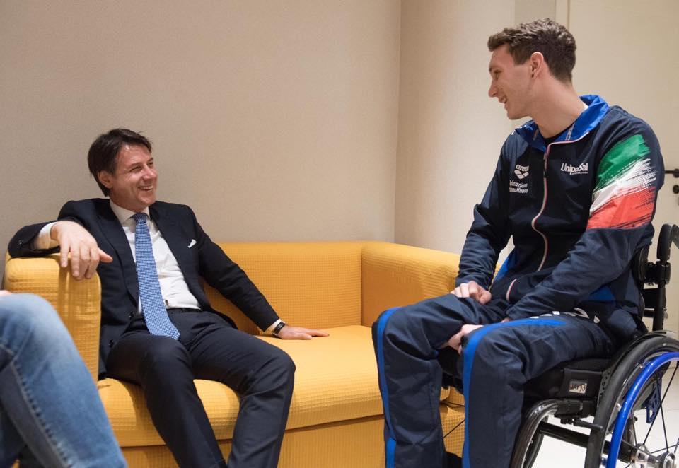 Conte incontra Manuel Bortuzzo:  Mi hai conquistato con il tuo coraggio