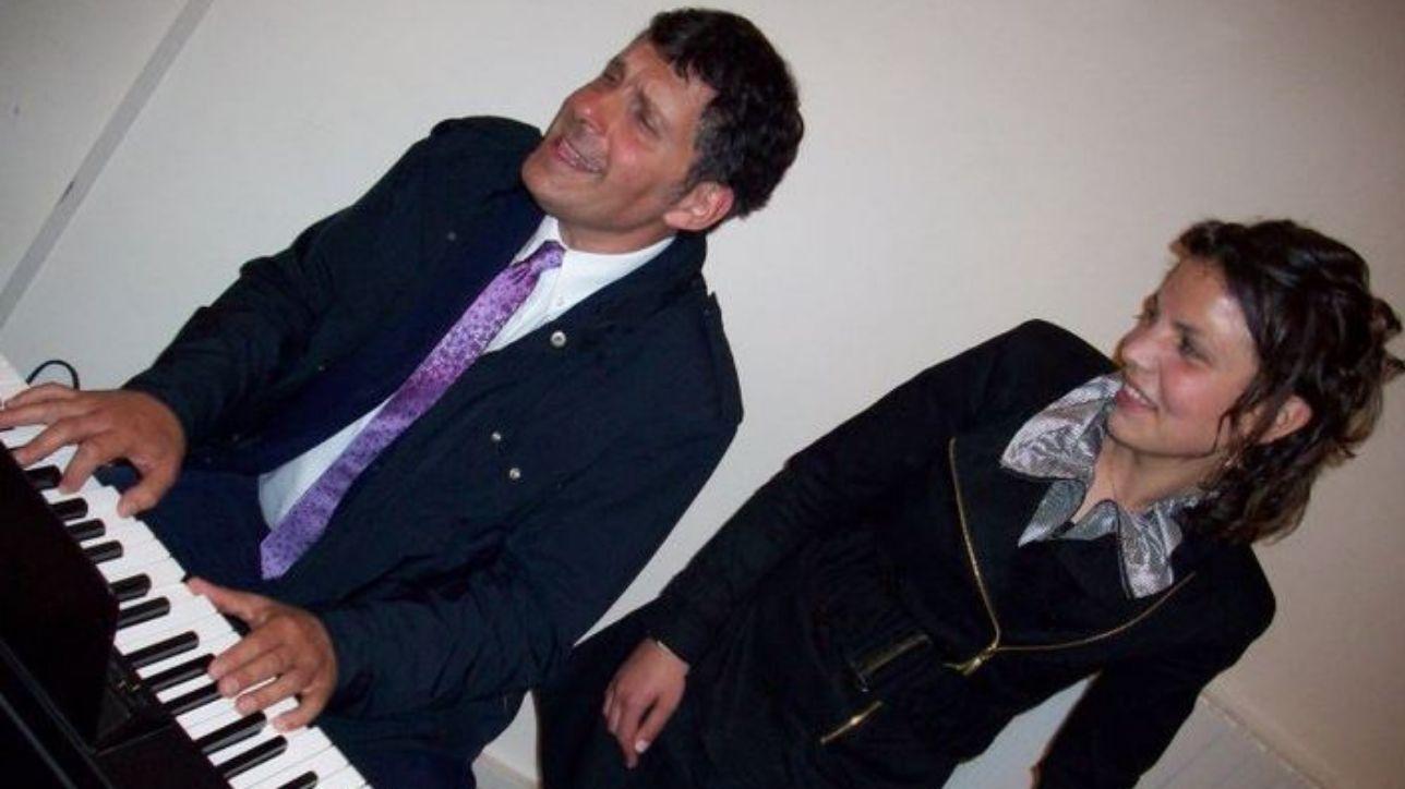 Fabrizio Frizzi con Valeria Favorito a cui ha donato il midollo osseo