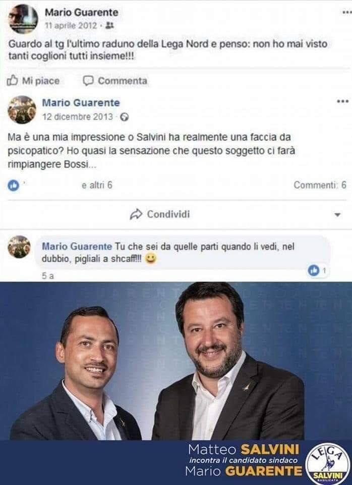Quando il neosindaco leghista di Potenza criticava Salvini sui social