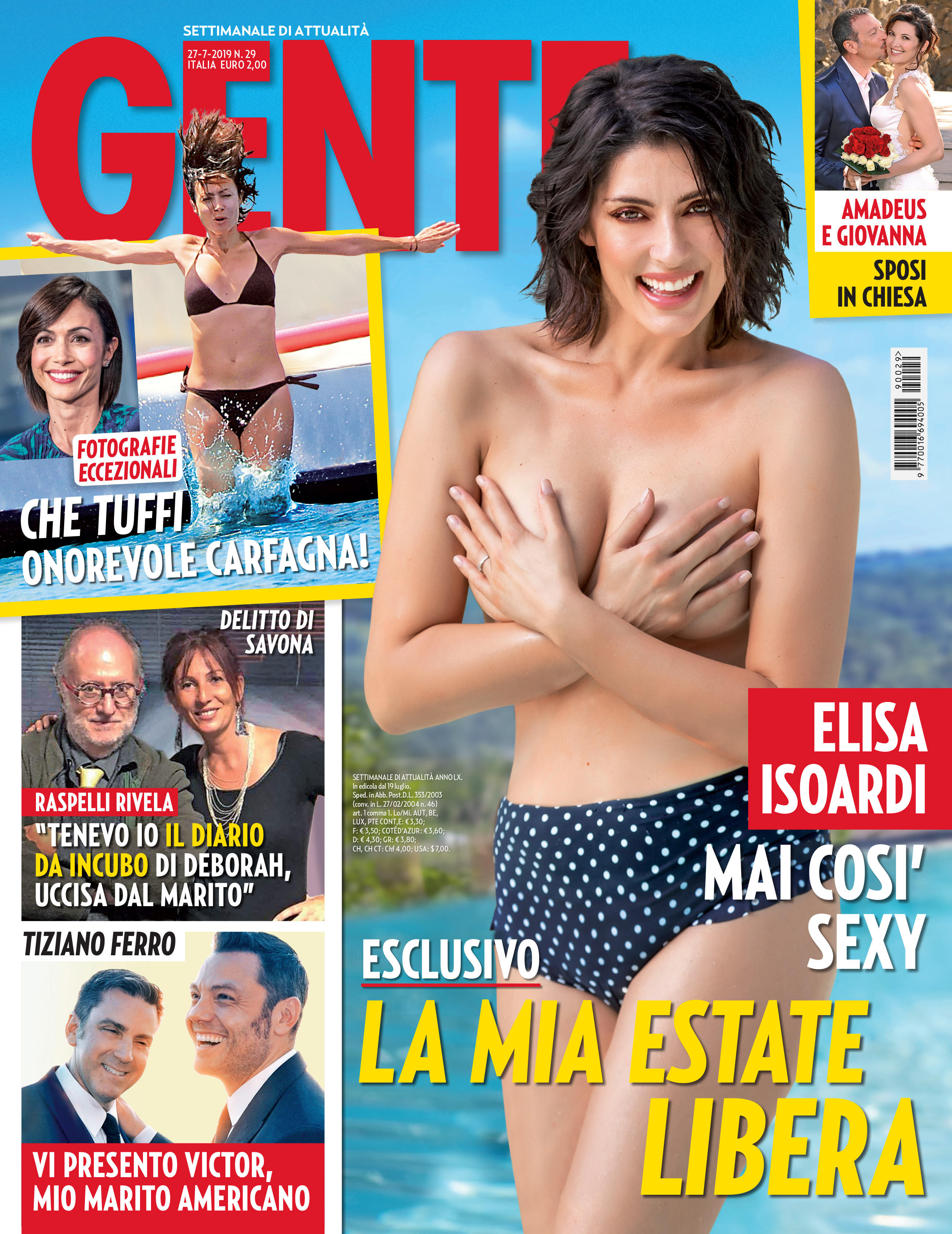 Elisa Isoardi in topless: ecco la mia estate libera