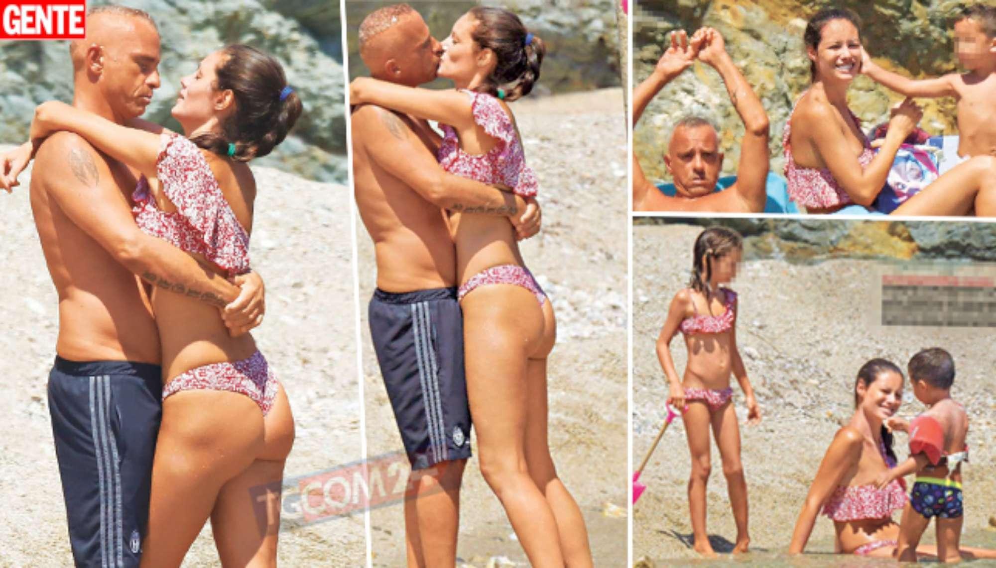 Eros Ramazzotti e Marica Pellegrinelli, baci e coccole sotto il sole di Mykonos