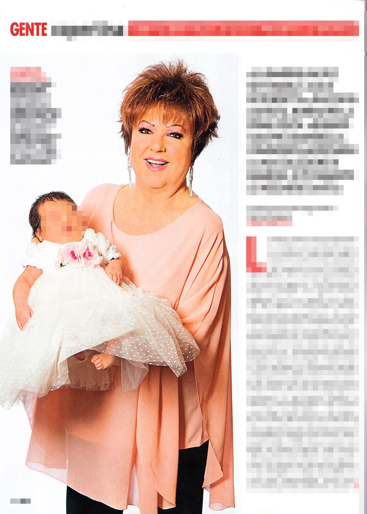 Orietta Berti presenta la nipotina Olivia