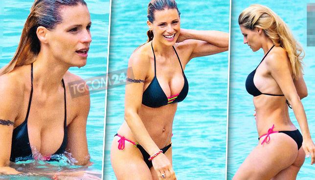 Michelle Hunziker in bikini è la più esplosiva del 2019