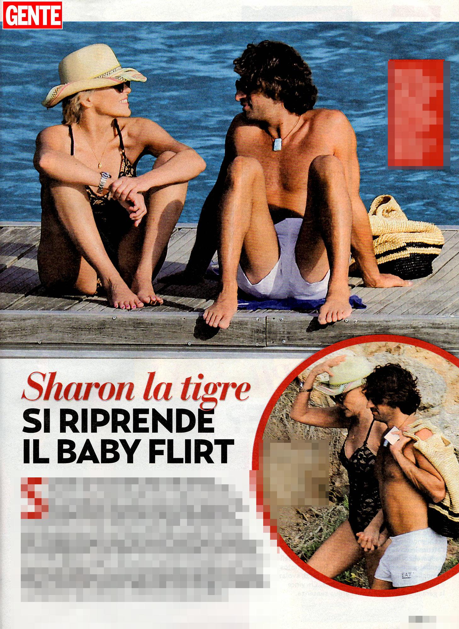 Sharon Stone, coccole al sole con il baby-fidanzato