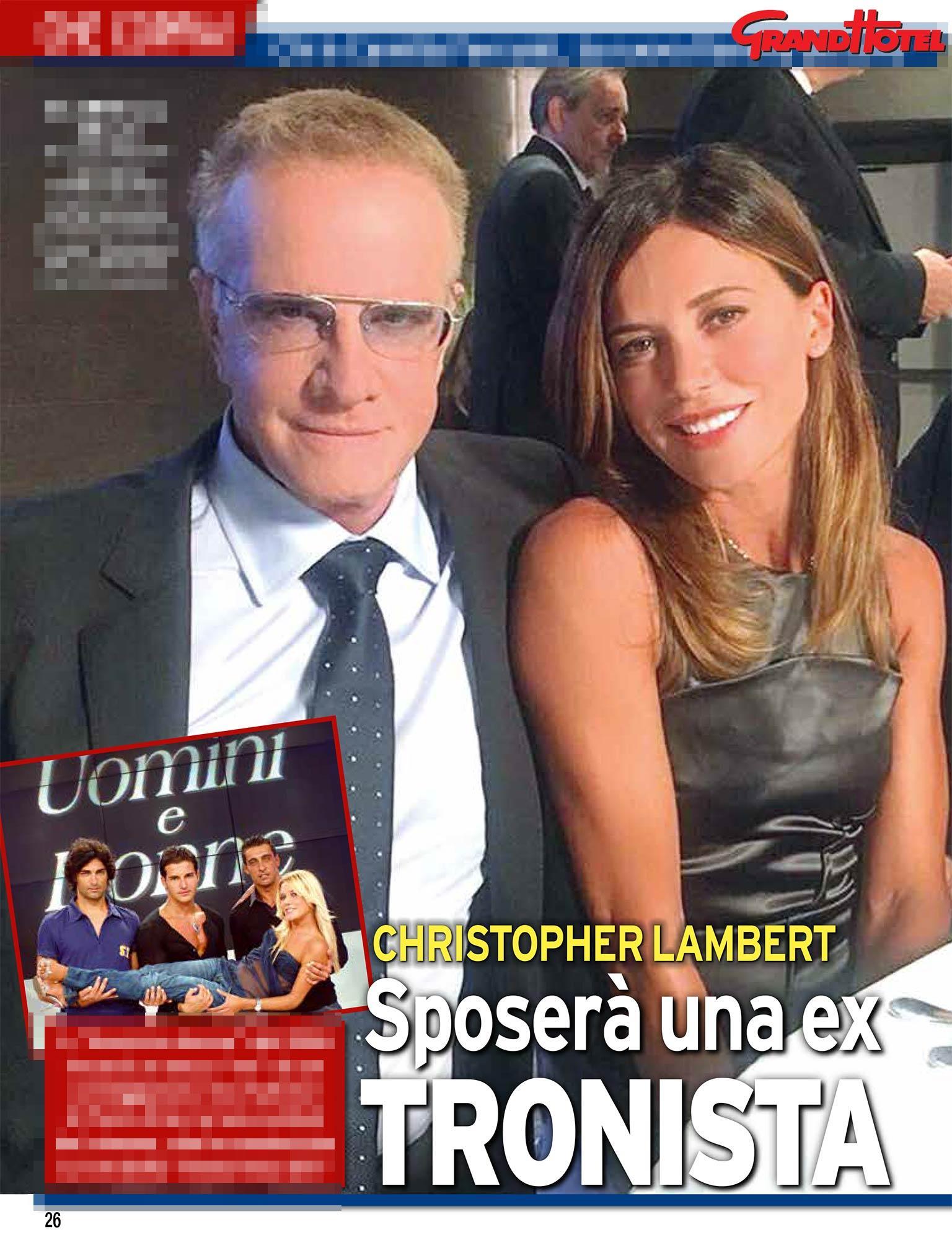 Christopher Lambert sposa una ex tronista