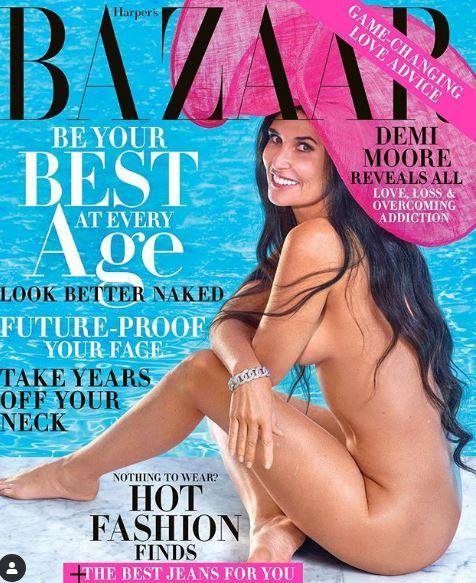 Demi Moore di nuovo nuda in copertina... a 56 anni