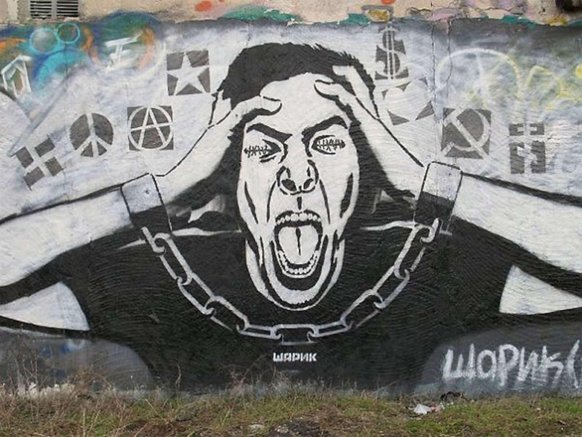 Le opere di Sharik, il misterioso street artist ucraino