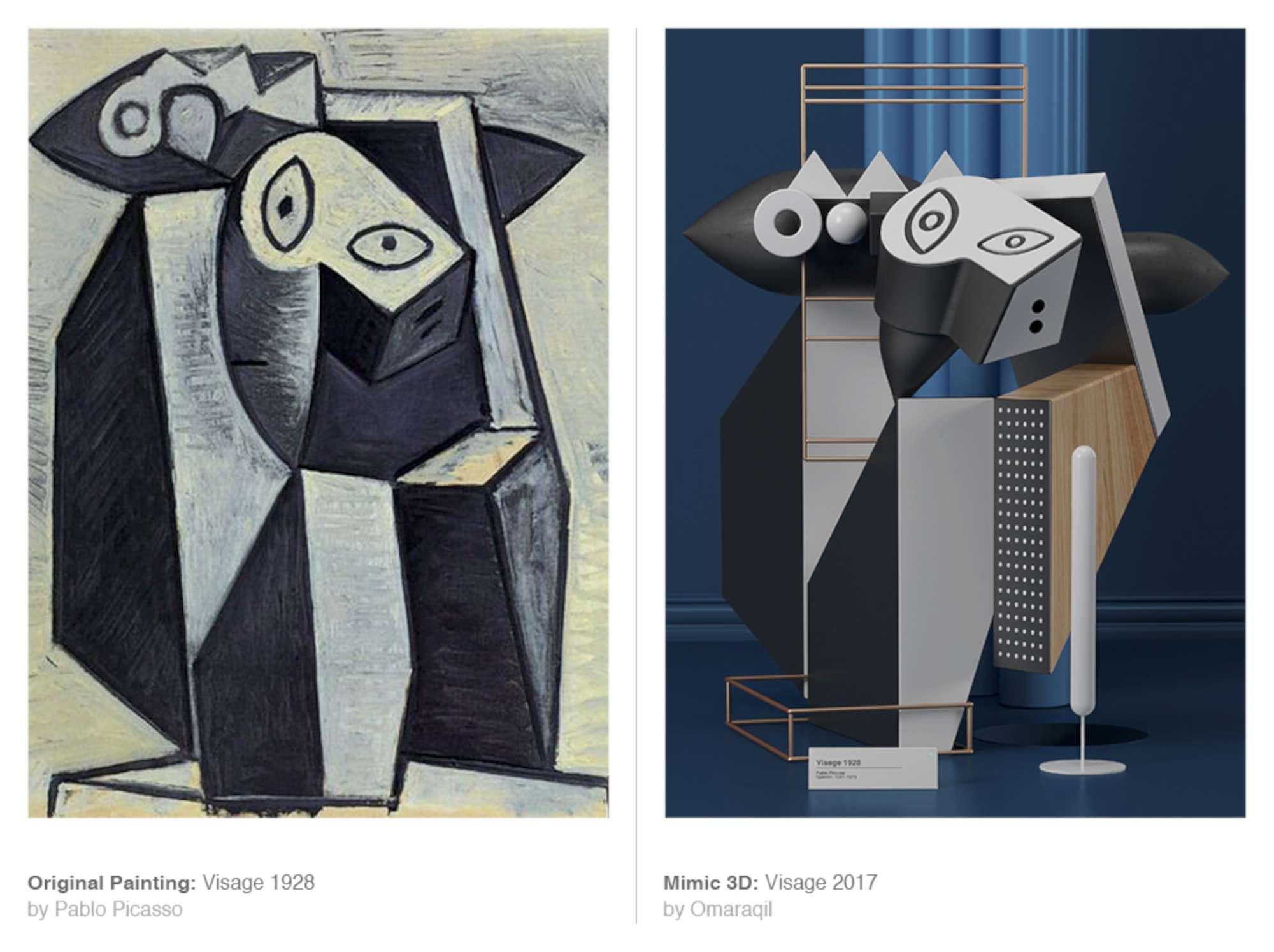 Un artista pakistano trasforma i Picasso in 3D