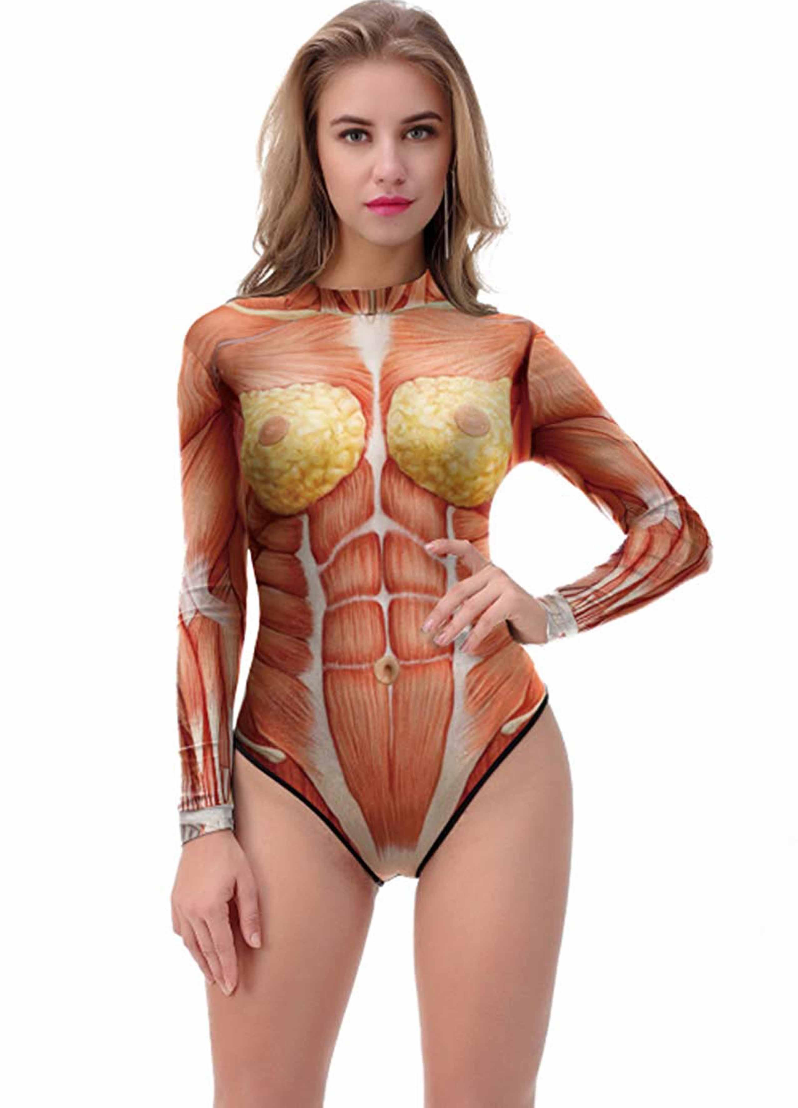 Pazzie estive, il costume da bagno con gli organi interni