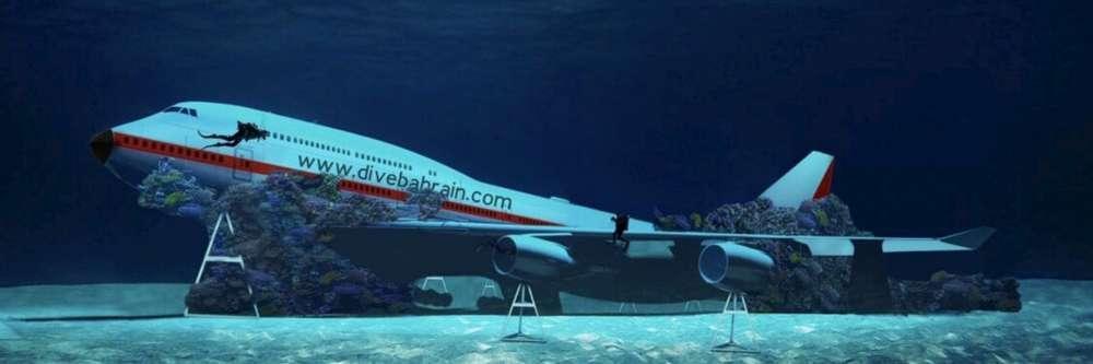 Bahrein: il Boeing 747 affondato diventa un parco divertimenti per i sub