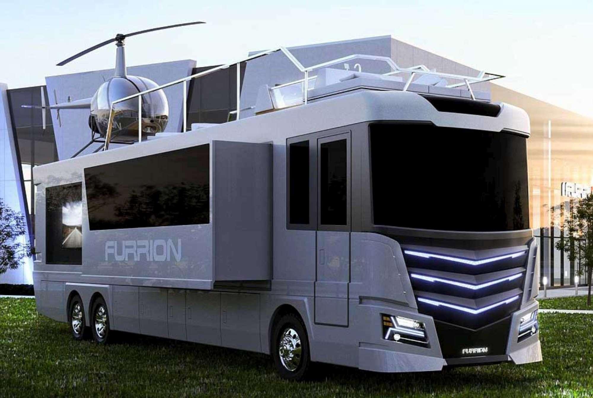 Elysium, il camper di lusso con vasca idromassaggio ed elicottero