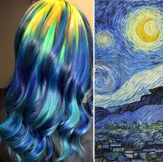 Capelli come quadri d autore: i capolavori dell hairstylist con la passione dell arte