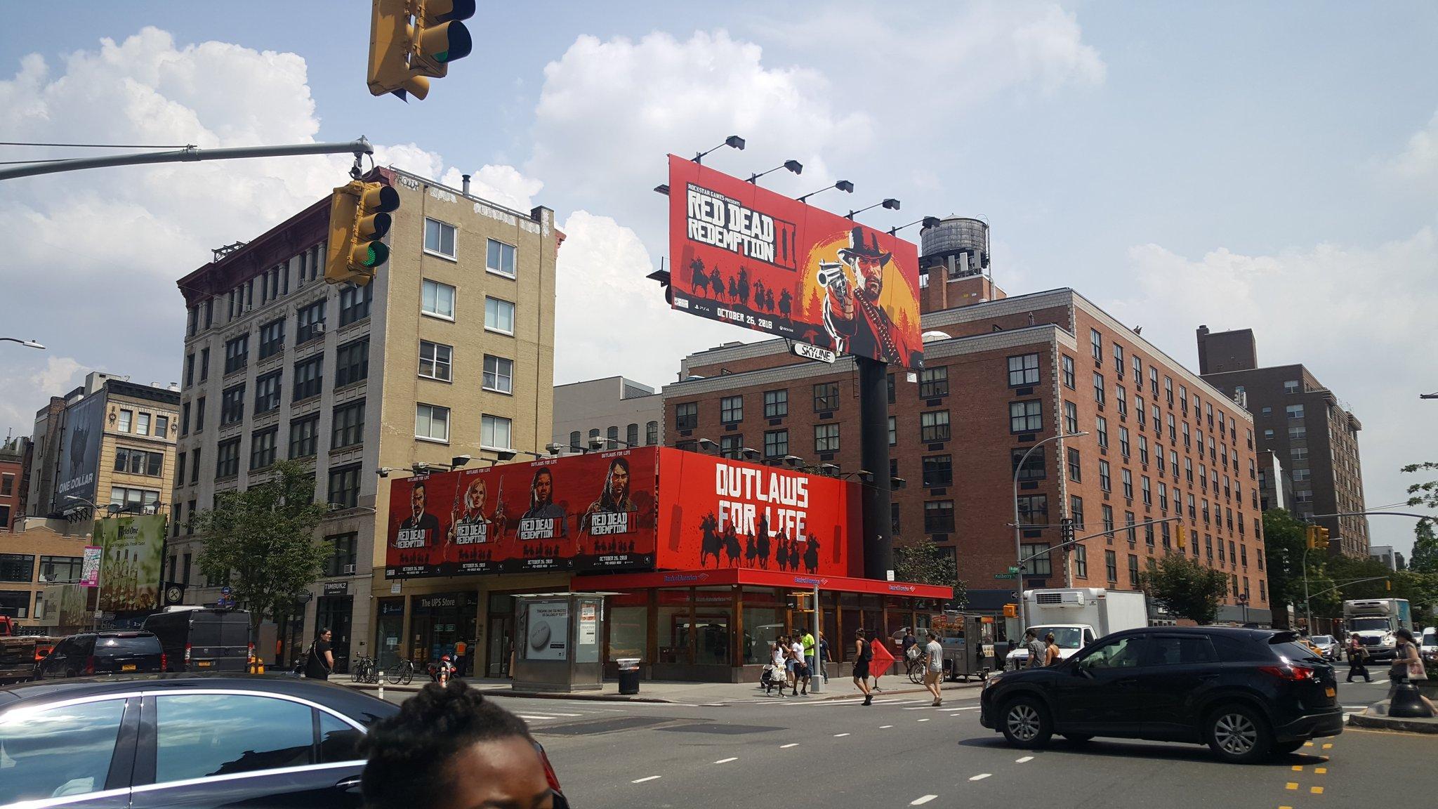 Le pubblicità di Red Dead Redemption 2