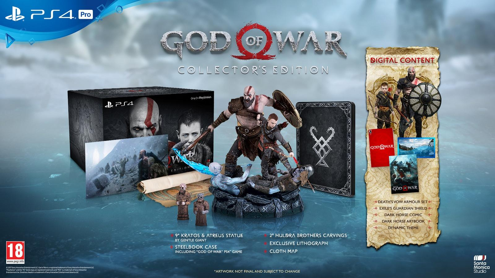 Le edizioni di God of War per PS4