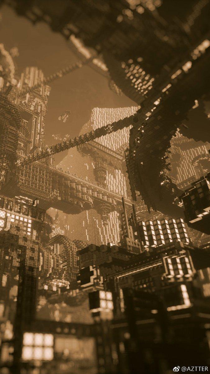 Minecraft, una città fantastica in stile cyberpunk