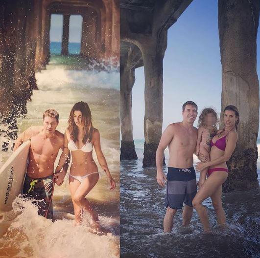 Elisabetta Canalis al mare non sta più nel bikini