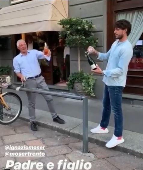 Moser compie 68 anni, aperitivo milanese con i Rodriguez