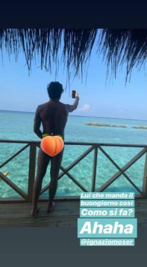 Cecilia e Ignazio, particolari intimi dalle Maldive