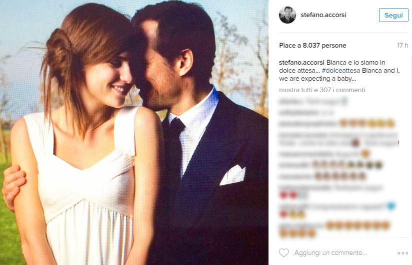 Stefano Accorsi e Bianca Vitali:  Siamo in dolce attesa