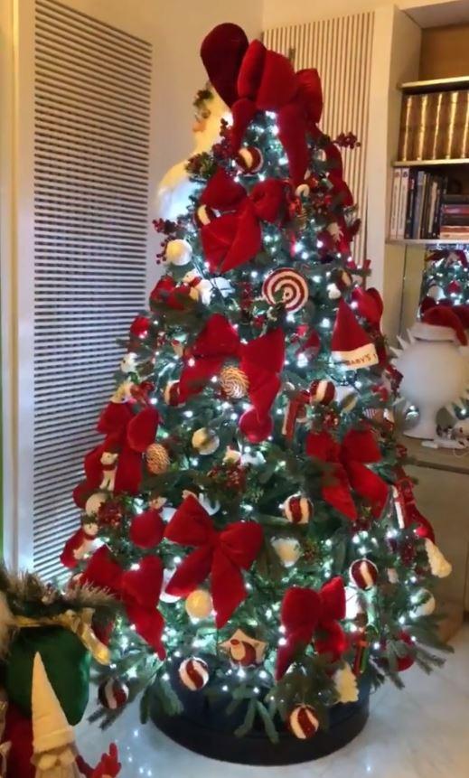 Alberi Di Natale Vip Decorati E Social Tgcom24