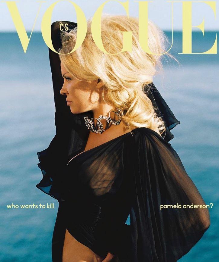 Pamela Anderson, la prima volta su  Vogue