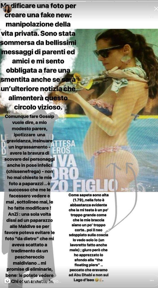 Marica Pellegrinelli in bikini davanti allo specchio:  Vi sembro incinta?