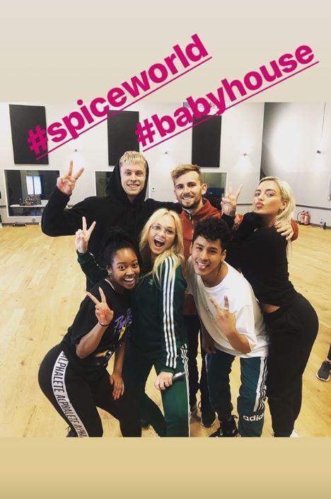 Spice Girls , prove per il tour a Londra