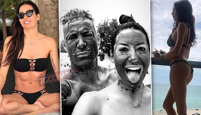 Elisabetta Gregoraci in bikini a Miami con Bettuzzi