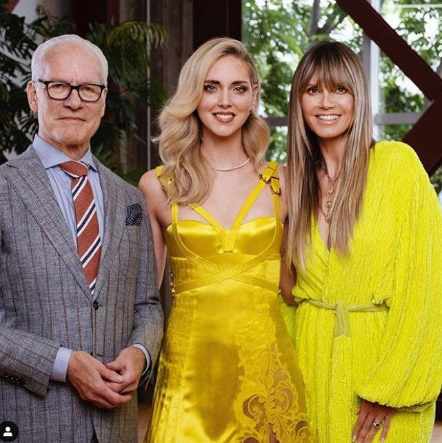 Chiara Ferragni e Heidi Klum, partner in tv