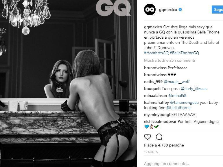 Bella Thorne, nuda e senza ritocchi Photoshop