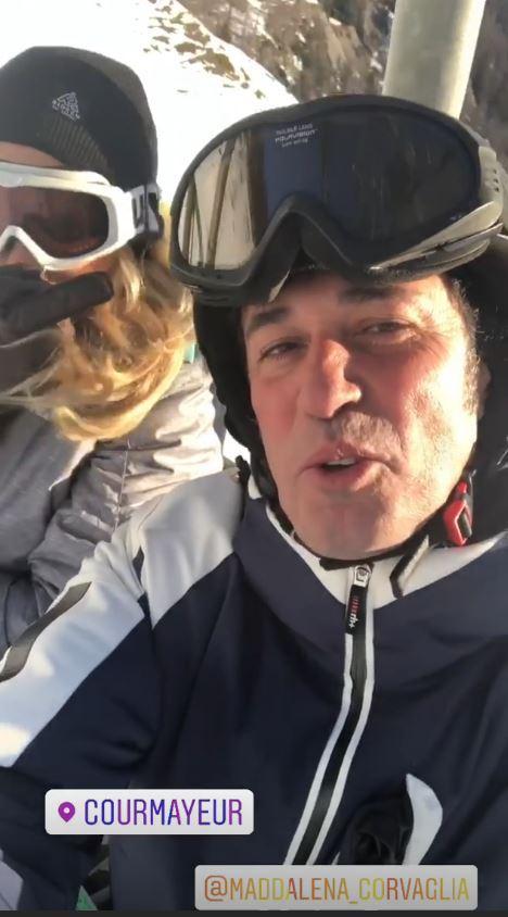 Maddalena Corvaglia e il fidanzato, innamorati sulle piste da sci