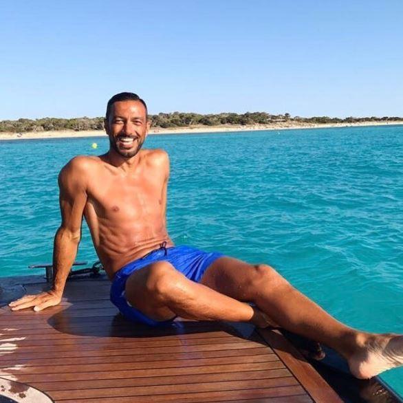 Fabio Quagliarella e Debora Salvalaggio fanno coppia a Ibiza