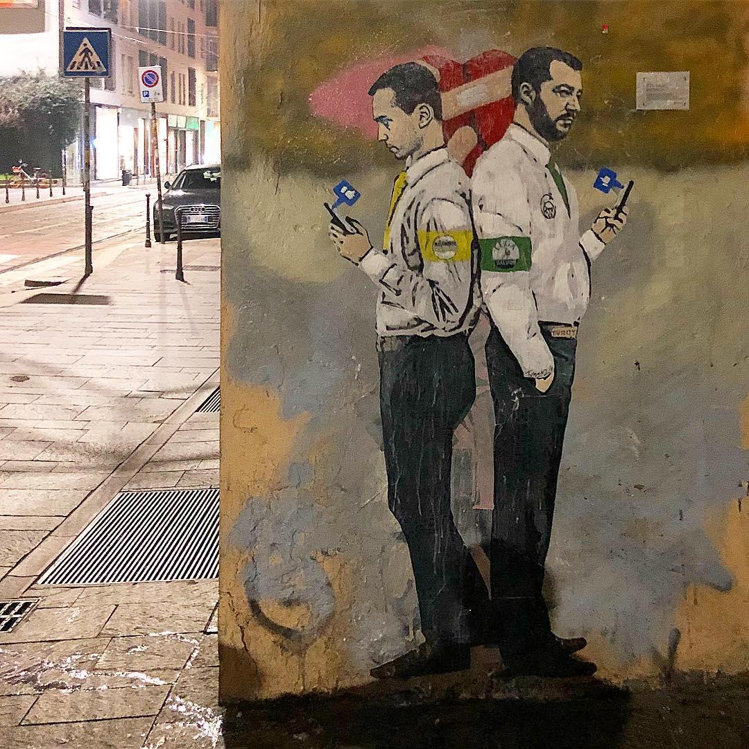 Chiara Ferragni in versione Madonna: il murales di Tvboy