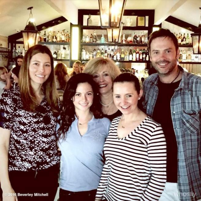 Settimo Cielo , reunion del cast nel ristorante di Jessica Biel