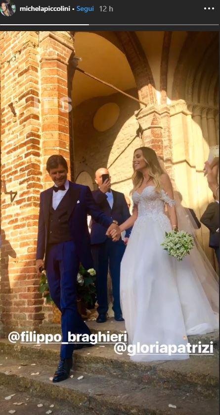 Gloria Patrizi ha sposato Filippo Braghieri: tra le amiche della sposa anche la Satta