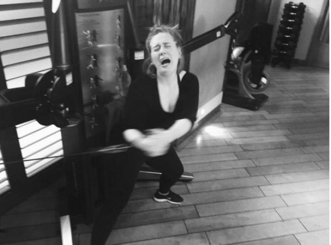 Adele, che fatica in palestra!