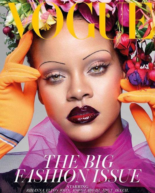 Rihanna sulla copertina più importante dell anno di  British Vogue: The September Issue